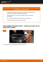 Kuidas vahetada ja reguleerida tagumine ja eesmine Piduriketas: tasuta pdf juhend
