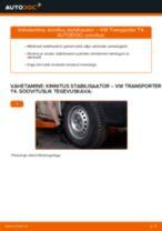 Kuidas vahetada VW Transporter T4 esi-kinnitus stabilisaator – õpetus