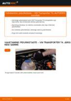 Kuidas vahetada VW Transporter T4 taga-piduriketaste – õpetus