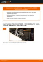 Kuidas vahetada ja reguleerida Piduriklotsid MERCEDES-BENZ VITO: pdf juhend