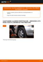 PDF asendamise juhend: Roolimine(risti-, piki-, põiki-) MERCEDES-BENZ VITO Buss (638) tagumine ja eesmine