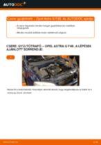 Online kézikönyv – saját kezű OPEL ASTRA G Hatchback (F48_, F08_) Csapágy Tengelytest csere