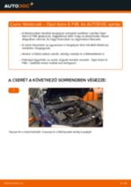 Elülső féktárcsák-csere Opel Astra G F48 gépkocsin – Útmutató