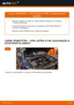 Hogyan cseréje és állítsuk be Lengőkar OPEL ASTRA: pdf útmutató
