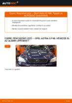 Fényszóró izzó-csere Opel Astra G F48 gépkocsin – Útmutató