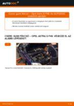 OPEL ASTRA G Hatchback (F48_, F08_) Axiális Csukló Vezetőkar cseréje: kézikönyv pdf