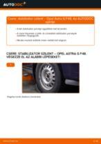 Elülső stabilizátor szilent-csere Opel Astra G F48 gépkocsin – Útmutató