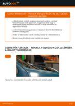 Lépésről-lépésre PDF-útmutató - RENAULT KANGOO (KC0/1_) Vezetőkar fej csere