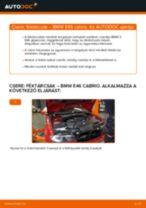 Elülső féktárcsák-csere BMW E46 cabrio gépkocsin – Útmutató