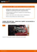 Hátsó féktárcsák-csere BMW E46 cabrio gépkocsin – Útmutató