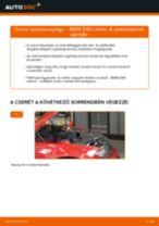 Elülső toronycsapágy-csere BMW E46 cabrio gépkocsin – Útmutató