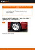 Elülső stabilizátor szilent-csere BMW E46 cabrio gépkocsin – Útmutató