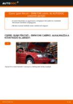 Elülső gumi fékcső-csere BMW E46 cabrio gépkocsin – Útmutató