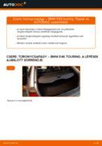 Hátsó toronycsapágy-csere BMW E46 touring gépkocsin – Útmutató