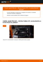 Elülső gumi fékcső-csere Skoda Fabia 6Y5 gépkocsin – Útmutató