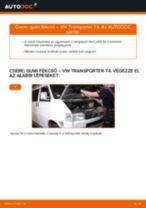 Lépésről-lépésre PDF-útmutató - VW TRANSPORTER IV Bus (70XB, 70XC, 7DB, 7DW) Gumiharang Készlet Kormányzás csere