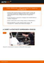 Online kézikönyv – saját kezű VW TRANSPORTER IV Bus (70XB, 70XC, 7DB, 7DW) Axiális Csukló Vezetőkar csere