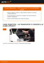 VW TRANSPORTER IV Bus (70XB, 70XC, 7DB, 7DW) Fékbetét készlet beszerelése - lépésről-lépésre útmutató