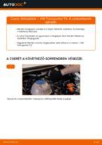 Hátsó fékbetétek-csere VW Transporter T4 gépkocsin – Útmutató