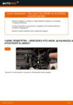 Cseréljünk Fékbetét MERCEDES-BENZ VITO: felhasználói kézikönyv