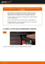 Hogyan cseréljünk Csapágyazás, kerékcsapágy ház FIAT 500 (312) - kézikönyv online
