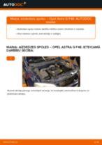 Kā nomainīt: aizdedzes spoles Opel Astra G F48 - nomaiņas ceļvedis