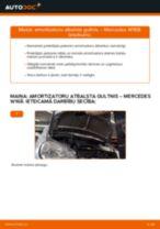 Amortizatora statnes balsts maiņa: pdf instrukcijas MERCEDES-BENZ A-CLASS