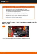 Kā nomainīt: priekšas bremžu diskus BMW E46 cabrio - nomaiņas ceļvedis