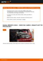 Kā nomainīt: aizmugures bremžu diskus BMW E46 cabrio - nomaiņas ceļvedis
