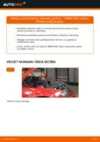 Kā nomainīt: priekšas amortizatoru atbalsta gultņi BMW E46 cabrio - nomaiņas ceļvedis