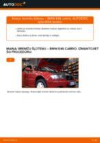 Kā nomainīt: priekšas bremžu šļūteņu BMW E46 cabrio - nomaiņas ceļvedis
