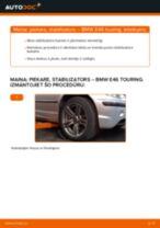 Kā nomainīt: priekšas piekare, stabilizators BMW E46 touring - nomaiņas ceļvedis