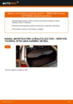 Kā nomainīt: aizmugures amortizatoru atbalsta gultņi BMW E46 touring - nomaiņas ceļvedis