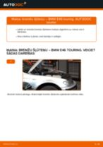 Kā nomainīt: priekšas bremžu šļūteņu BMW E46 touring - nomaiņas ceļvedis
