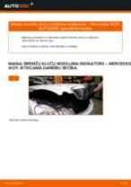 Mercedes W211: priekšpusē bremžu kluču nodiluma indikators – nomaiņas rokasgrāmata