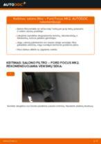 Žingsnis po žingsnio pakeiskite FORD SCORPIO I (GAE, GGE) Oro filtras, keleivio vieta PDF vadovas