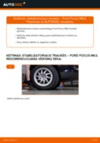 Nemokamos internetinės instrukcijos kaip atnaujinti Pasukimo trauklė FORD FOCUS II Saloon (DA_)