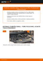 Žingsnis po žingsnio pakeiskite FORD FOCUS II Saloon (DA_) Stabdžių diskas PDF vadovas