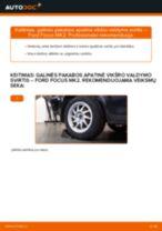 PDF keitimo instrukcija: Vairo trauklės (valdymo svirtis, išilginis balansyras, diago FORD Focus II Sedanas (DB_, FCH, DH) gale ir priekyje
