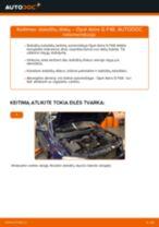 Kaip pakeisti Opel Astra G F48 stabdžių diskų: priekis - keitimo instrukcija