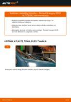 PDF keitimo instrukcija: Stabdžių trinkelių rinkinys, diskinis stabdys RENAULT KANGOO (KC0/1_) gale ir priekyje