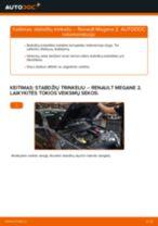 PDF keitimo instrukcija: Stabdžių trinkelių rinkinys, diskinis stabdys RENAULT MEGANE II sedanas (LM0/1_) gale ir priekyje