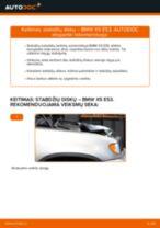 Kaip pakeisti BMW X5 E53 stabdžių diskų: galas - keitimo instrukcija