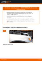 Kaip pakeisti BMW X5 E53 stabdžių diskų: priekis - keitimo instrukcija