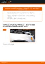 Kaip pakeisti BMW X5 E53 stabdžių trinkeliu: priekis - keitimo instrukcija