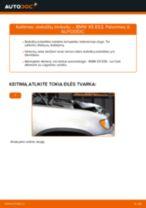 Kaip pakeisti BMW X5 E53 stabdžių trinkeliu: galas - keitimo instrukcija