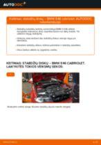 Kaip pakeisti BMW E46 cabriolet stabdžių diskų: priekis - keitimo instrukcija