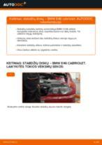 Kaip pakeisti BMW E46 cabriolet stabdžių diskų: galas - keitimo instrukcija
