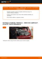 Žingsnis po žingsnio pakeiskite BMW 3 Convertible (E46) Stabdžių Kaladėlės PDF vadovas