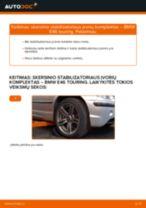 BMW Stabilizatoriaus įvorė keitimas pasidaryk pats - internetinės instrukcijos pdf
